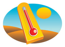 Thermometer desert Stock Photos