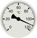 Thermometer dial - vector illustration Stock Photography