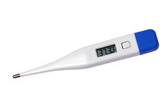 Thermometer. Digital thermometer isolated on white background stock image