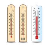 Thermometer drei Temperaturmessgerät Stockfotos