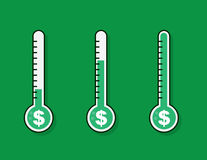 Thermometer Full Money Goal Royalty Free Stock Photography