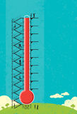 Thermometer Fundraiser Royalty Free Stock Images