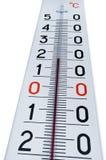 Thermometer getrennt auf Weiß Lizenzfreie Stockfotografie
