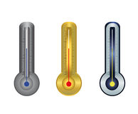 Thermometer gold silver Stock Photo