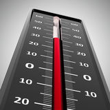 Thermometer heat close-up Royalty Free Stock Photography