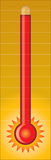 Thermometer - heiß Lizenzfreie Stockfotos