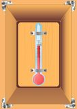 Thermometer home. Royalty Free Stock Images