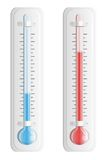 Thermometer. Hot and cold temperature. Vector. Royalty Free Stock Photography