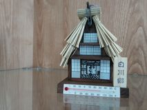 Thermometer house. Unique thermometer with the shape of mini house. Build based on Japanese house Stock Photography