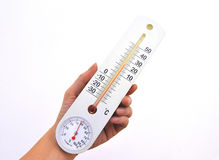 Thermometer & hygrometer Royalty Free Stock Photos
