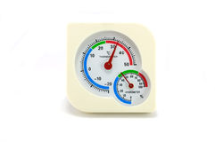 Thermometer and Hygrometer device Stock Images