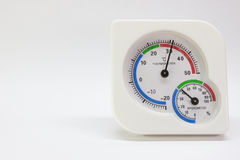 Thermometer and Hygrometer Stock Photo