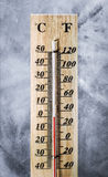 Thermometer on ice Royalty Free Stock Images