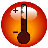 Thermometer icon or button Stock Photos
