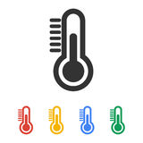 Thermometer icon. Flat design style. Thermometer icon. Flat design style eps 10 vector illustration