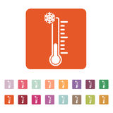 The thermometer icon. Low temperature symbol Royalty Free Stock Image