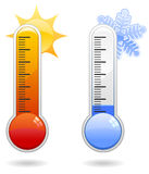 Thermometer Icons Stock Images