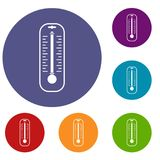 Thermometer icons set Royalty Free Stock Photos