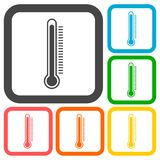 Thermometer icons set Stock Photo