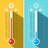 Thermometer Icons. Vector Temperature Measurement. Backgrounds Stock Photography