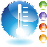 Thermometer-Ikone stock abbildung