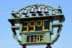 Thermometer im Freien Stockfoto