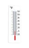 Thermometer indicates low temperature Stock Photos