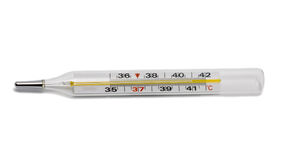 Thermometer. Isolated on the white background Stock Photography
