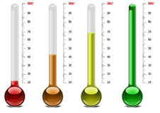 Thermometer levels Royalty Free Stock Image