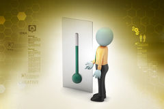Thermometer with man Stock Image