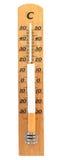 Thermometer mit Zigarette Stockfoto