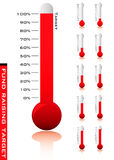 Thermometer percentage Royalty Free Stock Photo