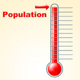 Thermometer Population Shows Thermostat Celsius And Temperature Royalty Free Stock Image