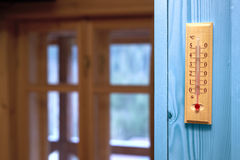 Thermometer in the room Royalty Free Stock Photography
