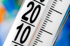 Thermometer scale Stock Photography