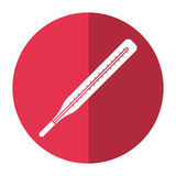 Thermometer scale measuring icon shadow. Vector illustration eps 10 Stock Image