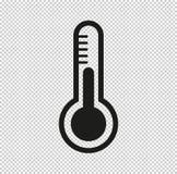 Thermometer - schwarze Vektorikone stockfotos
