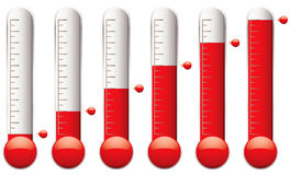 Thermometer set Royalty Free Stock Photos