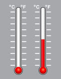 Thermometer set Stock Photo