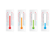 Thermometer set Stock Image