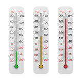 Thermometer Set Isolated on White Royalty Free Stock Photography