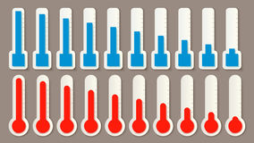 Thermometer set percentage Royalty Free Stock Image