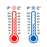 Thermometer set vector illustration Stock Image