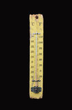 Thermometer show 14 degrees Celsius. A thermometer is a device that measures temperature or a temperature gradient using a variety of different principles. A stock photos