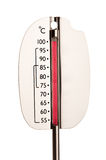 Thermometer showing 100 degres Royalty Free Stock Images