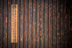 Thermometer showing high temperature, summer concept Royalty Free Stock Photo