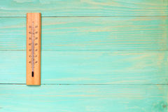 Thermometer  showing high temperature Royalty Free Stock Image