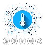 Thermometer sign icon. Temperature symbol. Royalty Free Stock Photo