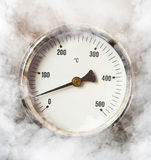 Thermometer and smoke Stock Photography
