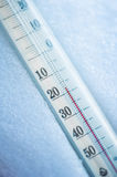 Thermometer in the snow Stock Photography